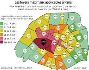 La carte des loyers de référence à Paris
